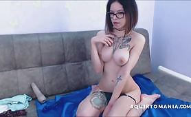Young Skinny Teen First Squirt Masturbation