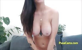 Big Ass White Girl with Tattoos and Big Natural Tits