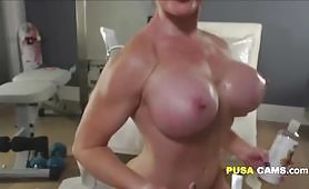 Crazy Horny MILF with Huge Boobs from USA