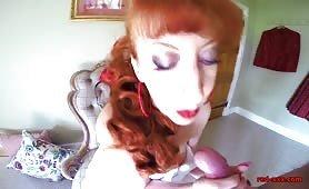 POV titsjob redhead mature