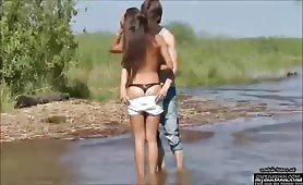 I fucked my gf near a river - visit OsirisPorn_com to watch m - PORN.COM
