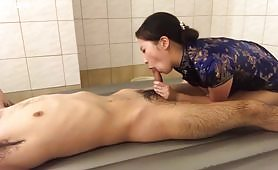 Chinese girl taken care of